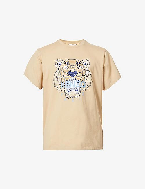 KENZO: Tiger graphic-print cotton-jersey T-shirt