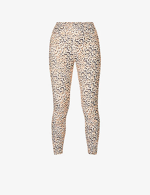 LORNA JANE: Eco 7/8 leopard-print stretch-recycled polyester leggings