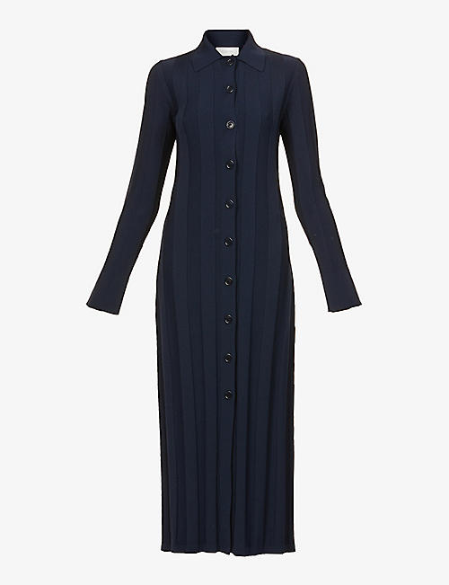 SPORTMAX: Sial button-up woven midi dress