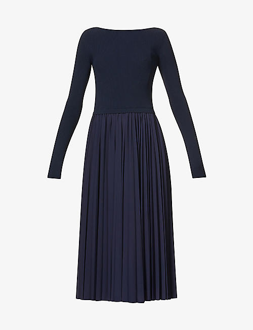SPORTMAX: Falena scoop-neck stretch-knit midi dress