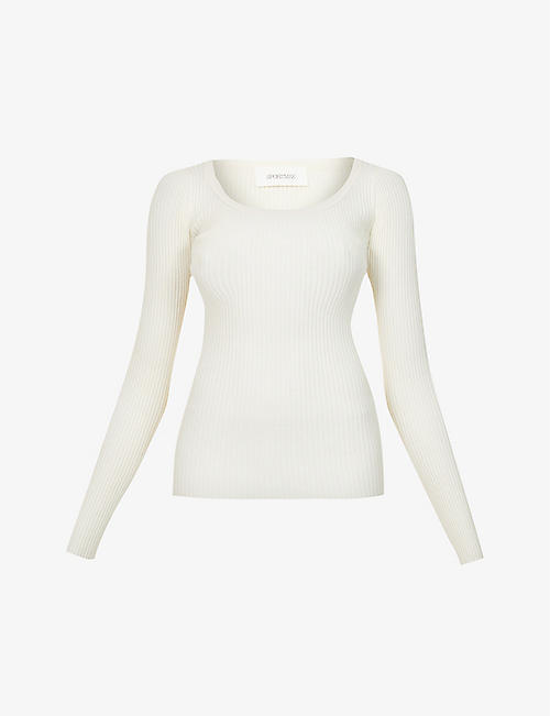 SPORTMAX: Artello scoop-neck knitted jumper
