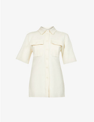 SPORTMAX: Reno cotton-blend shirt