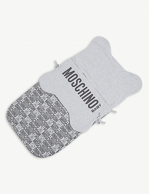MOSCHINO: Logo-print cotton baby nest