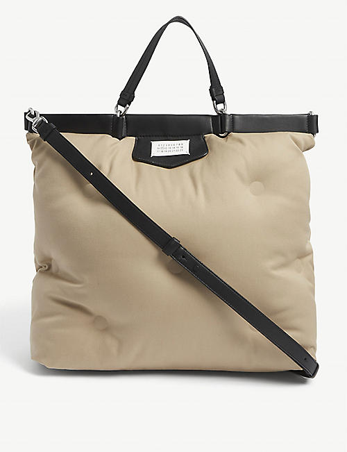 MAISON MARGIELA: Glam Slam large cotton tote bag