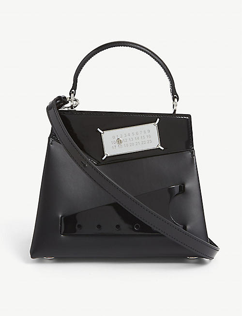 MAISON MARGIELA: Snatched leather top handle bag