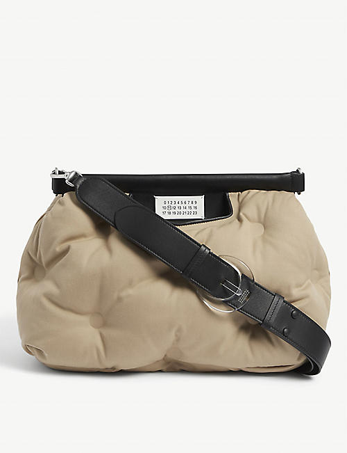 MAISON MARGIELA: Glam Slam medium padded canvas clutch