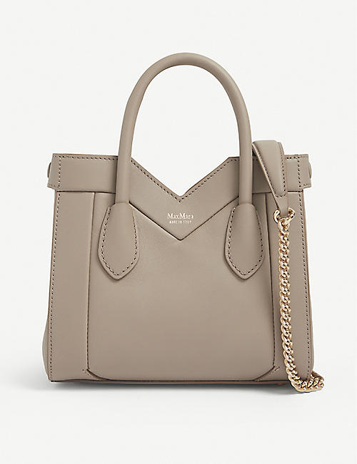 MAX MARA: Madame mini leather tote bag