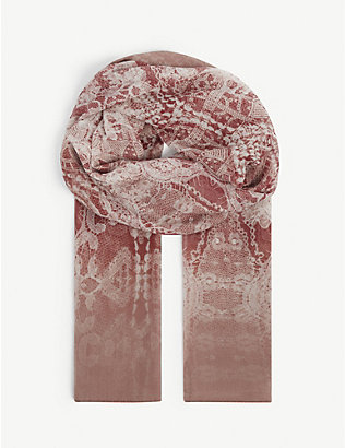MAX MARA: Gerbera abstract-pattern silk stole