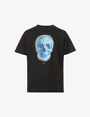 PS BY PAUL SMITH: Skull graphic-print organic cotton-jersey T-shirt