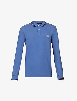 PS BY PAUL SMITH: Long-sleeved slim-fit cotton polo top