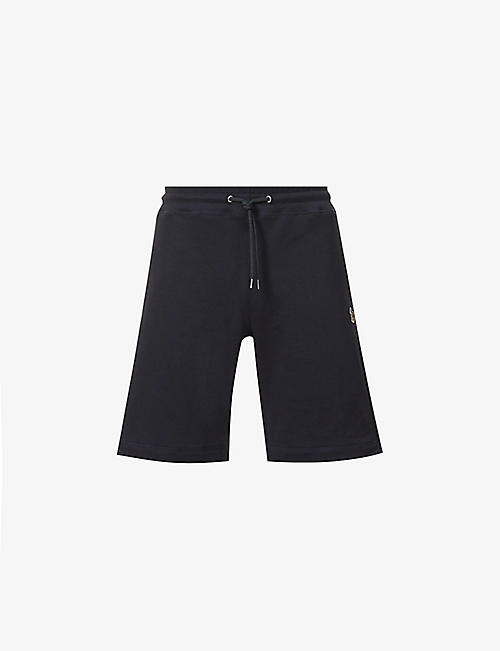 PS BY PAUL SMITH: Zebra brand-embroidered organic-cotton shorts