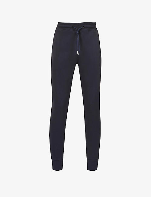 PS BY PAUL SMITH: Zebra brand-embroidered organic-cotton jogging bottoms