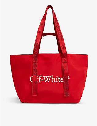 OFF-WHITE C/O VIRGIL ABLOH: Commercial logo-print shell tote bag