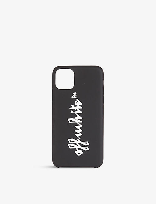 OFF-WHITE C/O VIRGIL ABLOH: Logo-print silicone iPhone 11 Pro Max case