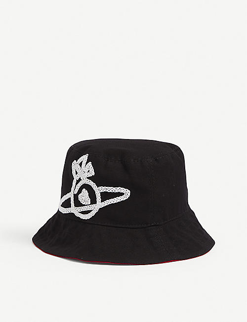 VIVIENNE WESTWOOD: Sonnet orb-embroidered canvas bucket hat