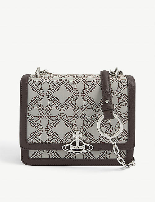 VIVIENNE WESTWOOD: Debbie medium recycled-polyester cross-body bag