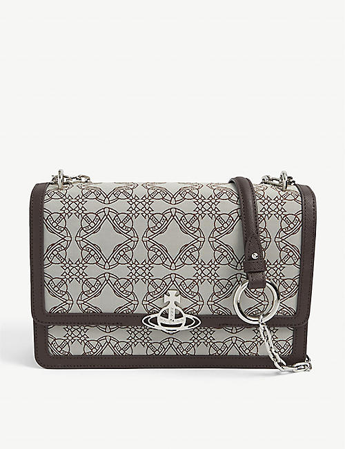 VIVIENNE WESTWOOD: Debbie large recycled-polyester cross-body bag