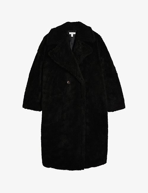 TOPSHOP: Whinnie double-breasted woven coat