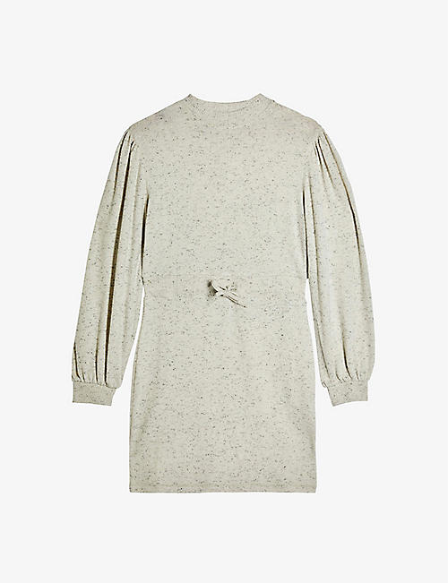 TOPSHOP: Round-neck cotton-jersey sweatshirt dress