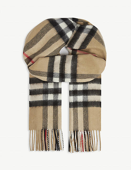 BURBERRY: Giant checked cashmere scarf