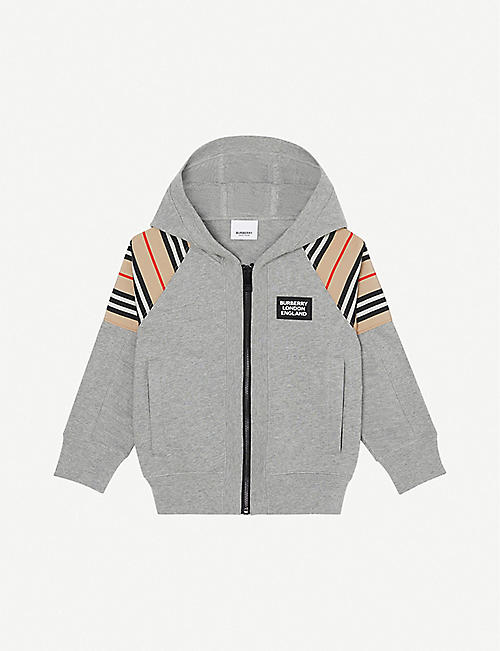 BURBERRY: Hamilton checked cotton-jersey hoody 3-14 years