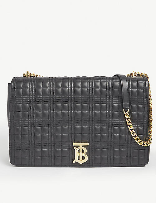 BURBERRY: Lola extra-large leather shoulder bag