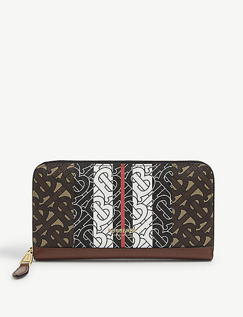 BURBERRY: Elmore TB monogram E-canvas wallet