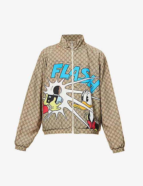 GUCCI: Gucci x Donald Duck graphic-print shell jacket