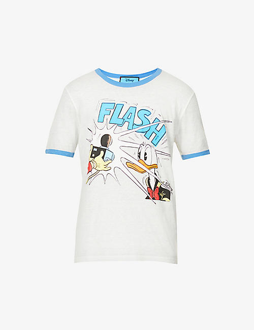 GUCCI: Gucci x Donald Duck graphic-print cotton-jersey T-shirt