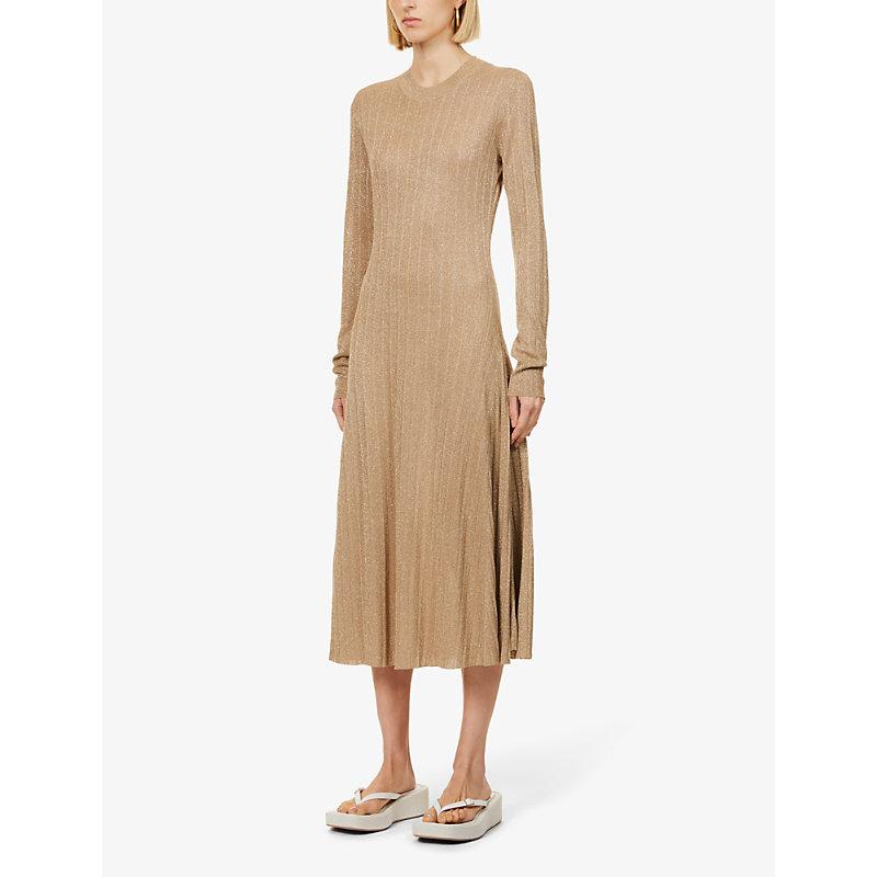 Joseph Midi dresses DIVA METALLIC KNITTED MIDI DRESS