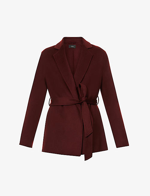 JOSEPH: Cenda belted wool and cashmere coat
