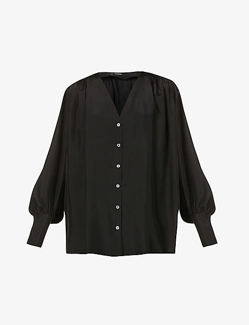 JOSEPH: Bary gathered silk blouse