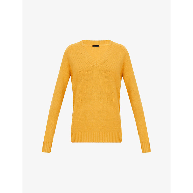 Joseph Cashmeres OPEN V-NECK RELAXED-FIT CASHMERE JUMPER