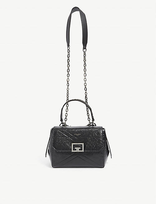 GIVENCHY: ID small patent-leather shoulder bag