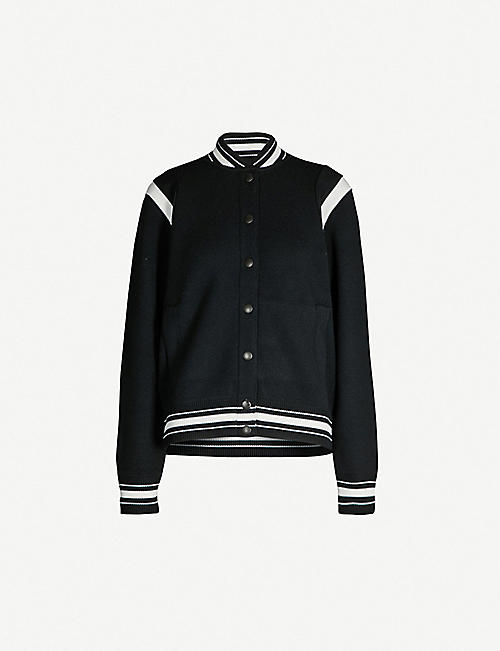 GIVENCHY: Logo-appliqué wool jacket