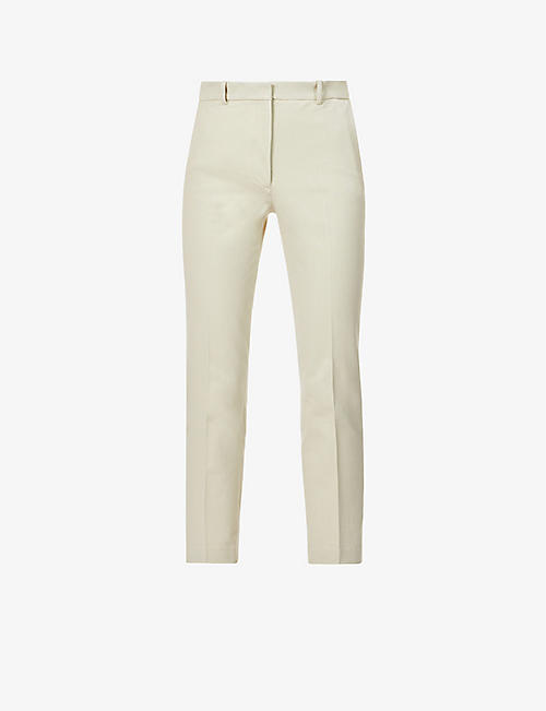 JOSEPH: Coleman tapered mid-rise woven trousers