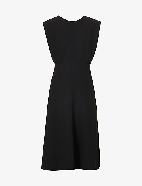 JOSEPH: Delannoy V-back crepe midi dress