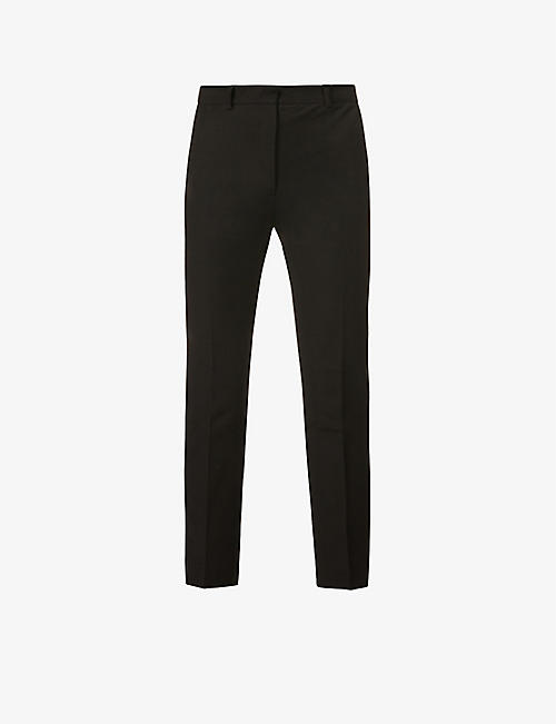 JOSEPH: Coleman tapered mid-rise cotton-blend trousers