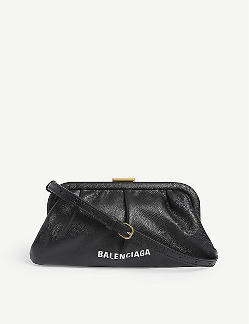 BALENCIAGA: Cloud XS leather cross-body bag