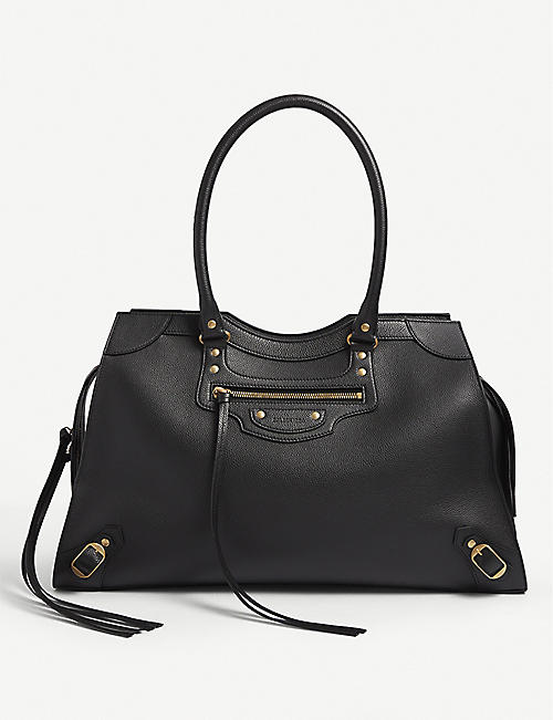 BALENCIAGA: Neo Classic large leather top-handle bag