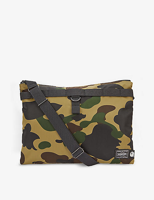A BATHING APE: Camouflage-print cross-body shell bag