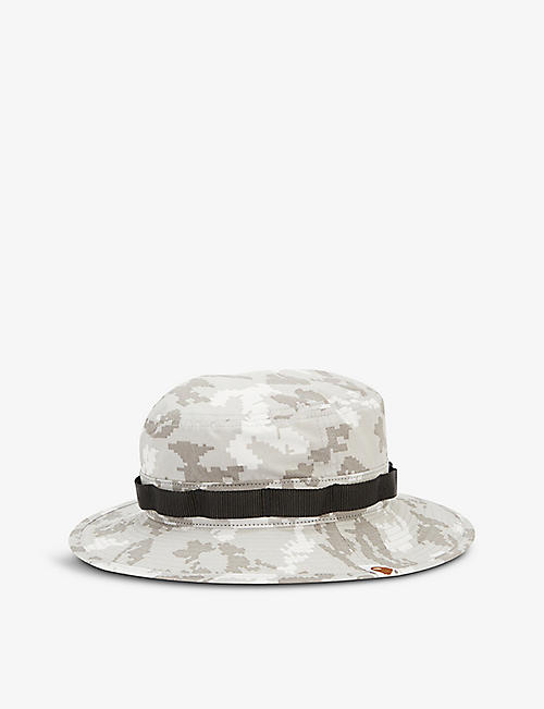 A BATHING APE: Digi Camo camouflage-pattern cotton bucket hat