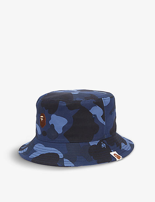 A BATHING APE: Color Camo camouflage-pattern cotton bucket hat
