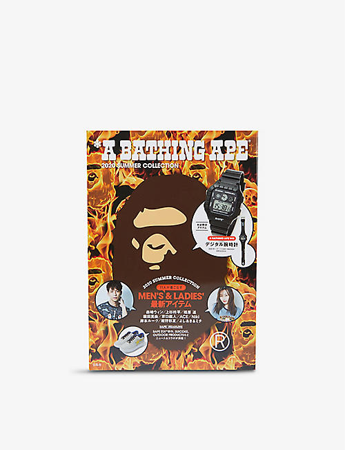 A BATHING APE: e-Mook SS20 magazine resin watch