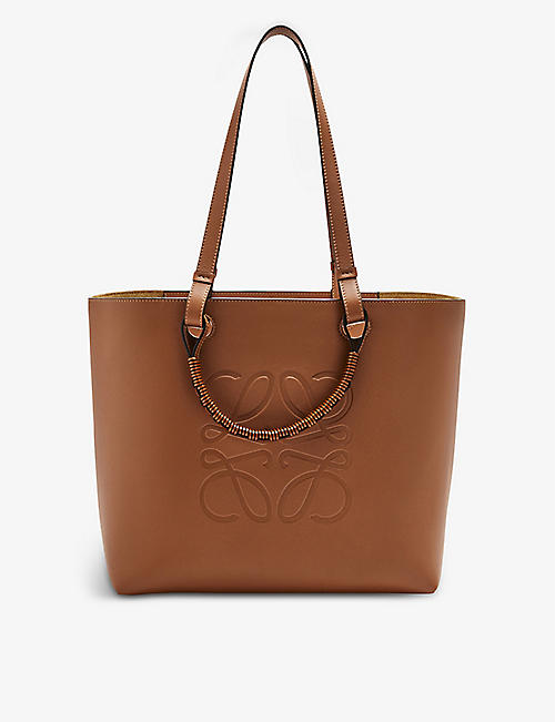 LOEWE: Anagram small leather tote bag