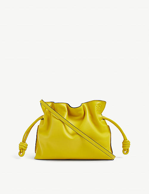 LOEWE: Flamenco knot mini leather clutch