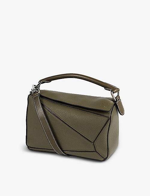 LOEWE: Puzzle small leather shoulder bag