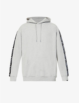 BOY LONDON: Haze Tape oversized cotton-blend hoody