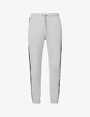 BOY LONDON: Haze tapered cotton-blend jogging bottoms