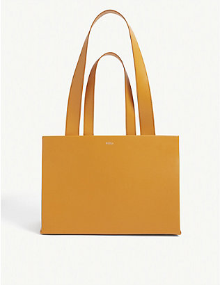 MEDEA: Dieci double belt leather tote bag